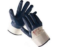 Перчатки с неполным двойным покрытием нитрила RUFF, с крагой