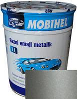 """206 Автоэмаль базовая """"металлик"""" Helios Mobihel """"Талая вода"""", 1л"""