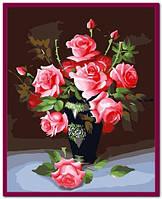 """Картина по номерам """"Розовые розы"""""""