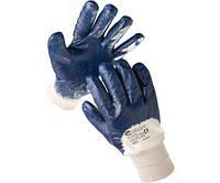 Перчатки с неполным двойным нитриловым покртием KITTIWAKE, манжет вязаный