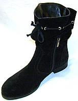 Полусапожки женские кожаные, замшевые , фото 1