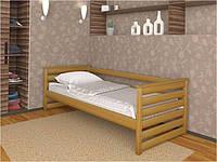 Ліжко односпальне  з натурального дерева Телесик
