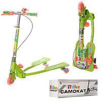 Самокат детский дрифт 3-х колесный JR 3-017 I-Trike, зеленый