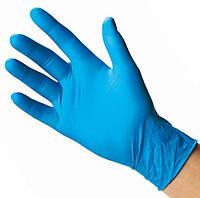 Перчатки нитриловые голубые без пудры 100 шт размер М
