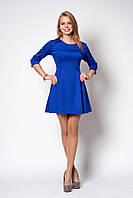 Стильное платье трикотаж-дайвинг р.42-46 V218