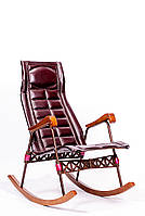 Кресло-качалка раскладное с закругленными ручками
