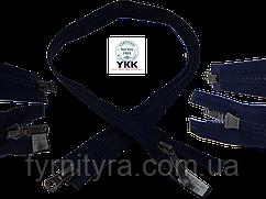 Молния трактор YKK 80cм,100см т.синий DADSP 2бегунка 058