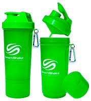 Шейкер SmartShake Slim NEON Green (500 мл)