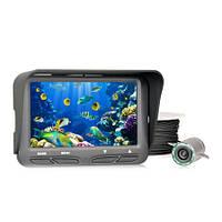 """Подводная HD камера для поиска рыбы с углом обзора 140 градусов, 30-ю метрами кабеля и 4.3"""" влагозащитным HD м"""