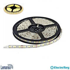 Светодиодная лента IP65 5m 60SMD 3528 12V тепло-белая 4,8W/м (цена за 1м) / LM578 LEMANSO