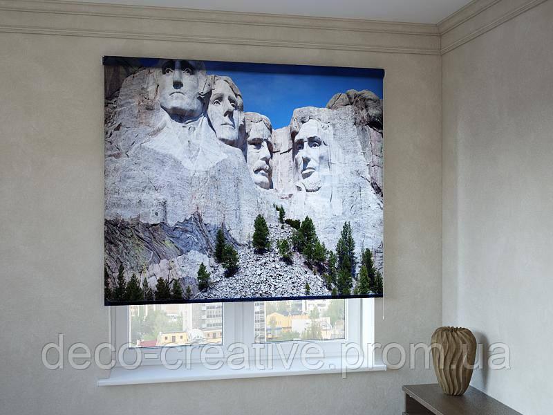 Рулонные шторы с фотопечатью президенты на горе Рашмор