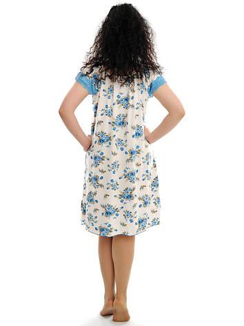 Женская ночная рубашка с кружевом, фото 2