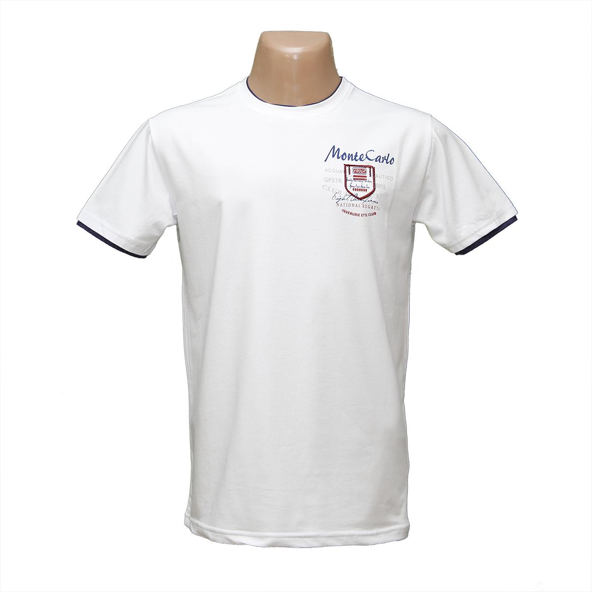 Мужская белая стрейчевая футболка Лайкра тм. BY Walker. пр-во Турция H2132