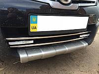 Накладка над нижнюю решетку Nissan Qashqai (Ниссан кашкай), нерж.