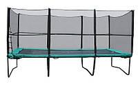 Прямоугольный батут KIDIGO™ 457х305 см. с защитной сеткой + лестница, фото 1