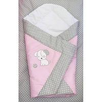 Конверт на выписку, плед и одеяло- Песик вышивка