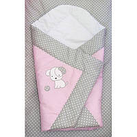 одеяло на выписку, плед -конверт- Песик вышивка, фото 1