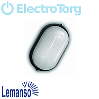 Свет-к LEMANSO овал метал. 60W без реш. BL-1401 белый