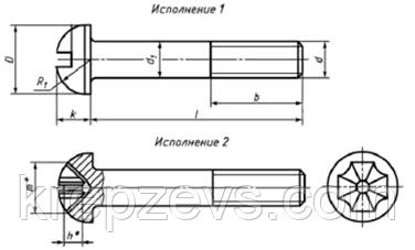 Винт М10 полукруглый ГОСТ 17473-80