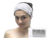 Повязка для волос Люкс спанлейс на резинке гофрированная