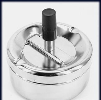 Пепельница 02120 металл/хром/глянец, д=9 см