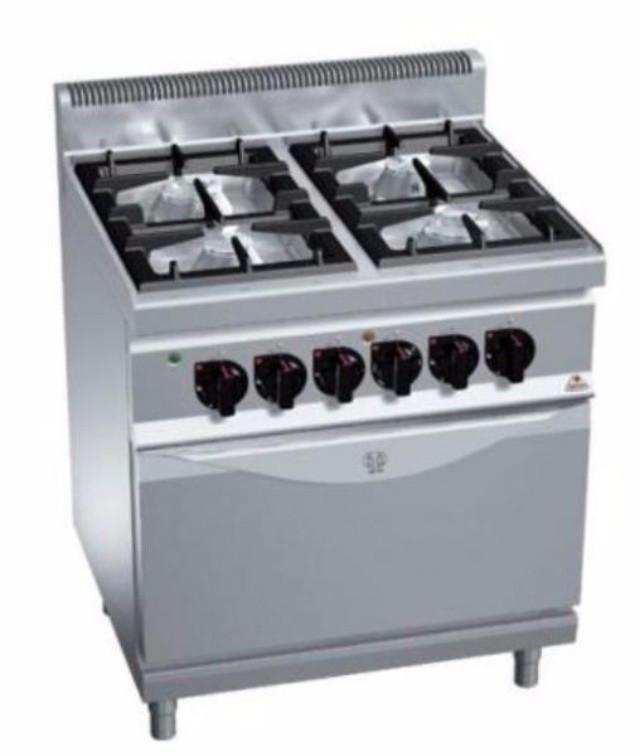 Газовая плита 4-х конфорочная с духовкой (4кВт) Bertos G7F4 + FG1