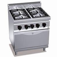 Газовая плита 4-х конфорочная с духовкой (7,8кВт) Bertos G7F4 + FG