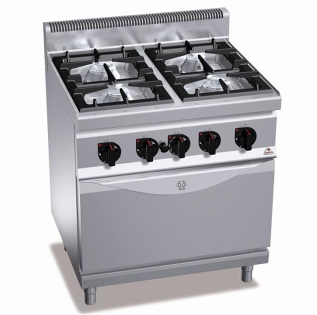 Газовая плита 4-х конфорочная с духовкой (7,8кВт) Bertos G7F4+FG