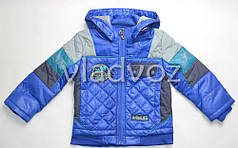 Детская куртка для мальчика 3-4 года синяя 98р-104р.