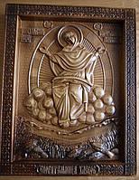 Иконы резные. Икона Божьей Матери Спорительница Хлебов