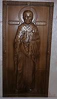 Икона резная Святого Николая Чудотворца (ростовая)