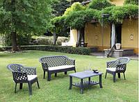 Комплект пластиковой мебели Veranda Set antracit