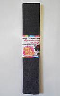 Крепированная бумага №10.2  цвет: темно-серый