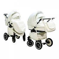 Универсальная коляска 2 в 1 Adamex Enduro кожа 100% в ассортименте