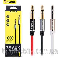 Кабель AUX (mini Jack 3.5 mm) - Remax Audio Cable (1 метр)