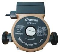 Насос циркуляционный Optima OP20-40 130мм+гайки,+кабель с вилкой.