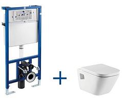 Инсталляционная система Roca унитаз GAP +кнопка+крышка A34H478000+A890096001+A890090020