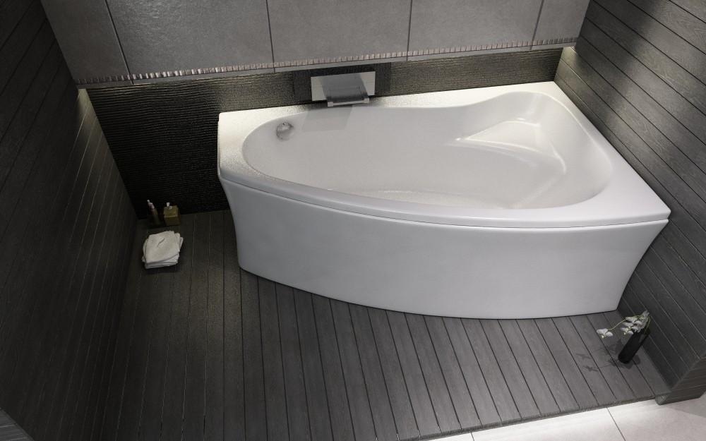 Ванна акриловая Cersanit Sicilia new 140x100 (правая)
