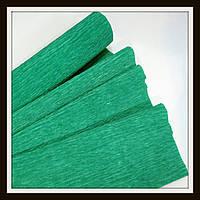 Гофрированная бумага 50*250 см Зеленая