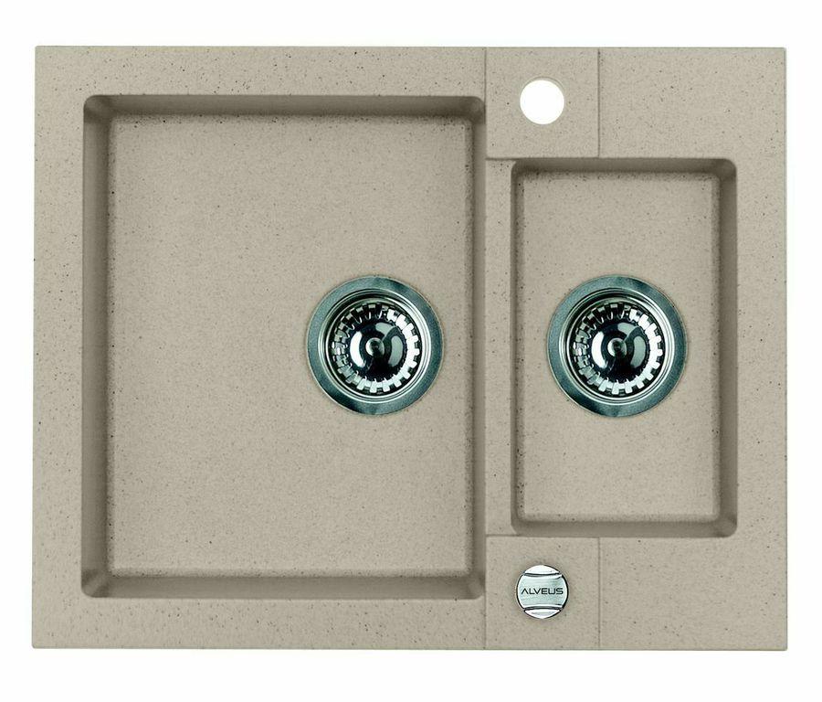Кухонная мойка ALVEUS R&R ROCK 80 G55 beige 1090959
