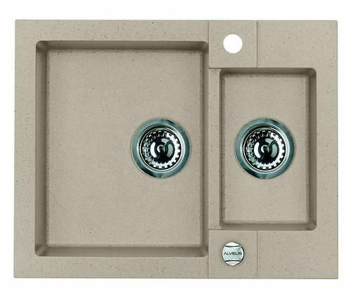 Кухонная мойка ALVEUS R&R ROCK 80 G55 beige 1090959, фото 2