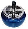 Пепельница 49071(0209802) металл, хром глянцевый/синий металлик, д=13 см