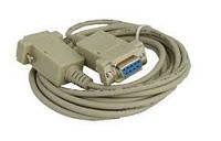 Шнур компьютерный Null modem гн.DB9pin- гн.DB9pin, диам.-5мм, 3м