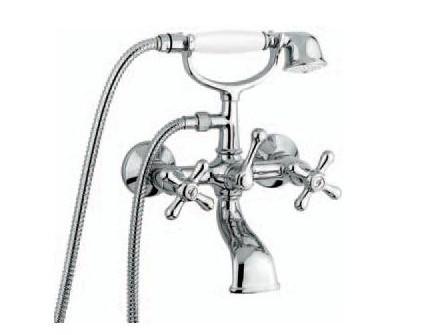 Смеситель для ванной Emmevi DECO classic НИЗКАЯ хром CR12011с/акс