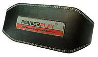 Пояс для тяжелой атлетики Power Play кожа 16 см