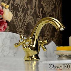 Смеситель для умывальника Emmevi DECO classic золото BIG с/пр OR12013