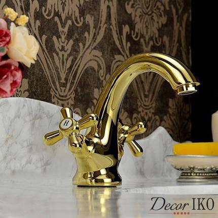 Смеситель для умывальника Emmevi DECO classic золото BIG с/пр OR12013, фото 2