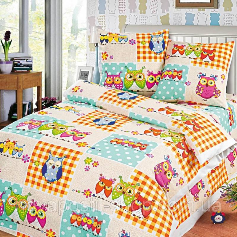 Ткань для детского постельного белья, бязь с совами Соня