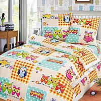 Ткань для детского постельного белья, бязь с совами Соня, фото 1
