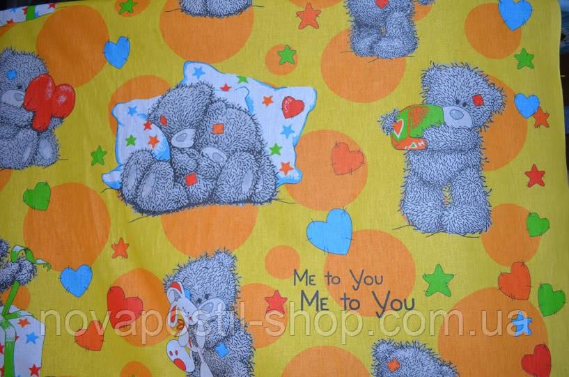 Ткань для детского постельного белья, бязь Топтыжка